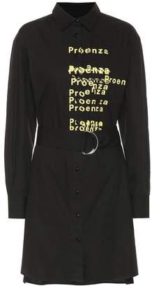 Proenza Schouler Printed cotton mini shirt dress