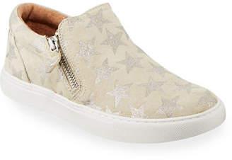 Gentle Souls Lowe Star-Print Platform Sneakers