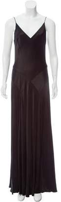 Carmen Marc Valvo Satin Maxi Dress