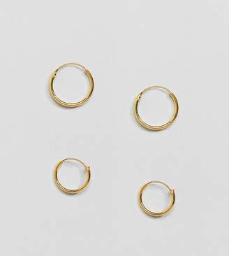 Kingsley Ryan Gold Plated Mini Hoop Earrings Set