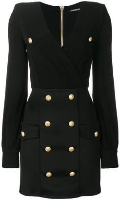 Balmain embellished button dress