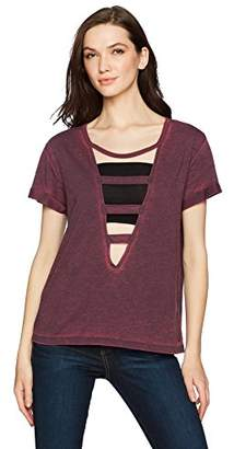 True Religion Women's Fragmented Short Sleeve Tee2