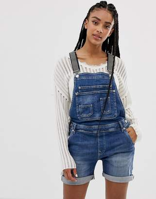 Pepe Jeans Overall Shortall with Stripe Straps