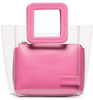 Staud Pink Shirley mini leather tote bag