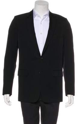Christian Dior VOTC Leather-Accented Wool Blazer