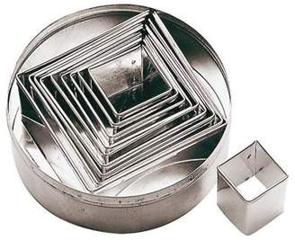 """Paderno World Cuisine Dough Cutters Set/6, Square, S/S, H 1 1/8"""""""