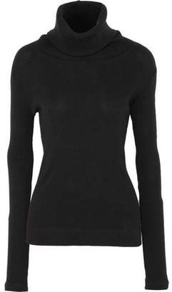Enza Costa Ribbed Cotton And Cashmere-Blend Turtleneck Sweater