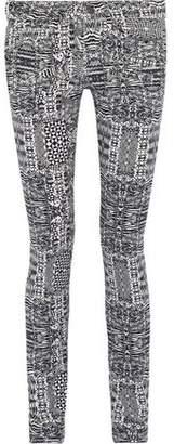 Pierre Balmain Printed Low-Rise Skinny Jeans