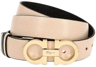 Salvatore Ferragamo 20mm Logo Leather Belt