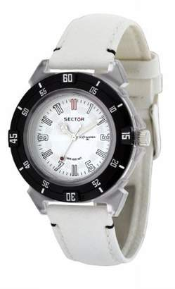 Sector Women's R3251197015 Expander 90 White Leather calfskin Band Watch.