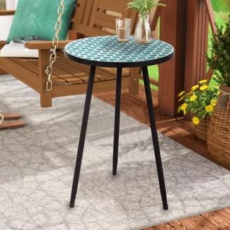Incadozo Round Mosaic Table--Green Dots