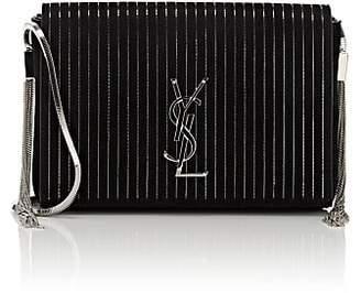 Saint Laurent Women's Monogram Kate Small Suede Chain Bag