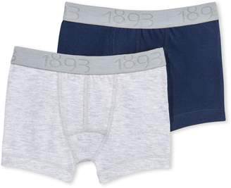 Petit Bateau Boys Underwear/Boxers 2 Pk. Solid Grey-Solid Navy Sizes 2-14 Style 15258/G