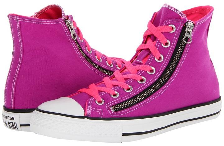 Converse Chuck Taylor All Star Seasonal Double Zip Hi (Purple Cactus Flower) - Footwear