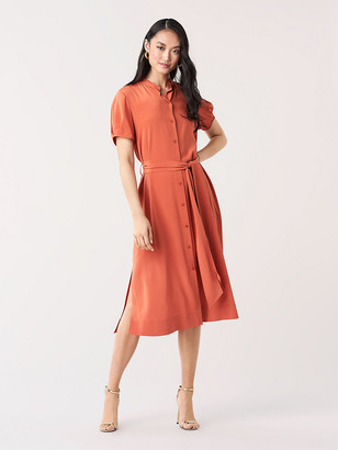 Diane von Furstenberg Addilyn Silk Crepe de Chine Shirtdress