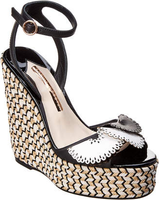 Sophia Webster Soleil Lucita Leather Espadrille Wedge Sandal
