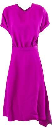 N°21 N.21 Long Dress In Fuchsia Fabric