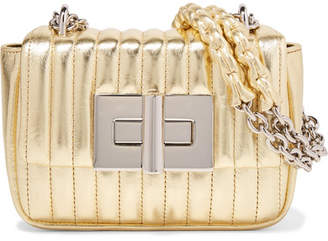 Tom Ford Natalia Mini Metallic Quilted Leather Shoulder Bag - Gold