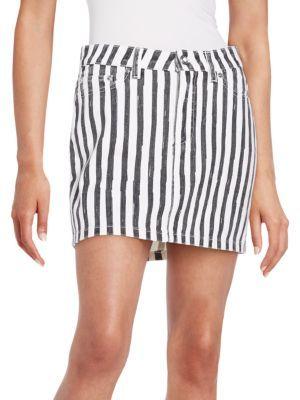 Striped Icon Mini Skirt