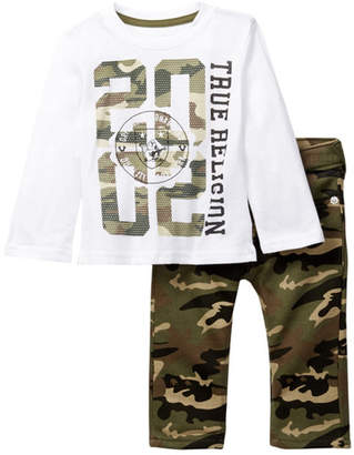 True Religion Camo Tee & Pants 2-Piece Set (Baby Boys)