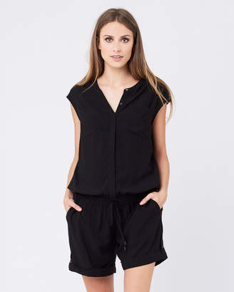 Ripe Maternity Button Up Playsuit