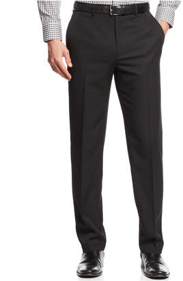 Alfani Flat-Front Slim-fit Herringbone Wrinkle-Resistant Pants, Created for Macy's