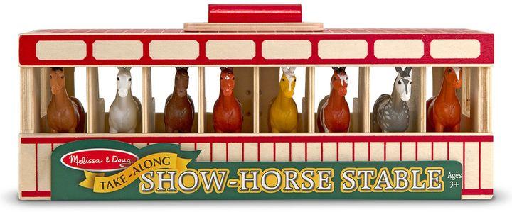 Melissa & Doug Take-Along Show-Horse Stable