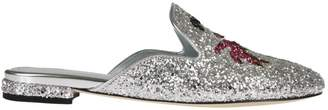 Chiara Ferragni Sabot Silver Glitter Palm