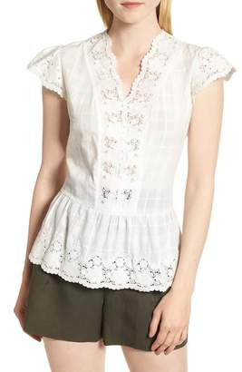 Nordstrom Signature Crochet Inset Top