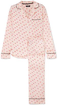 DKNY Read My Lips Printed Satin Pajama Set - Ivory