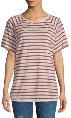 Frame Dolphin Striped Linen Tee