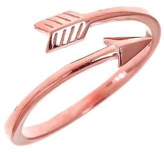 Sterling Forever 14K Rose Gold Vermeil Arrow Ring