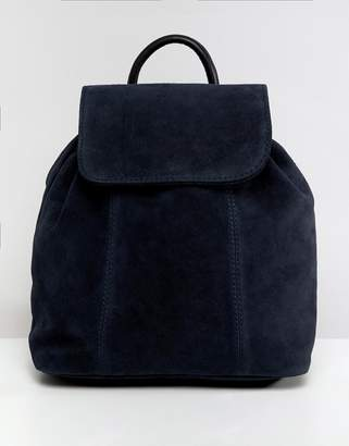 Asos Design DESIGN suede backpack