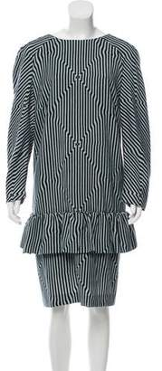 Dries Van Noten Wool Striped Dress