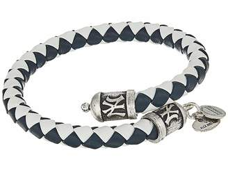 Alex and Ani MLB New York Yankees Braided Leather Wrap Bracelet Bracelet
