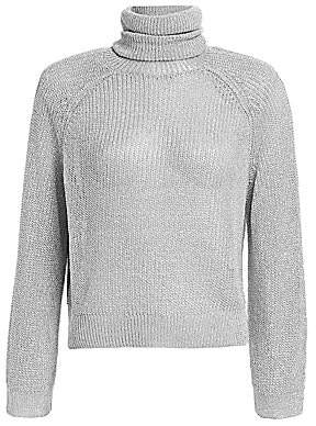 RtA Women's Mick Metallic Turtleneck Sweater