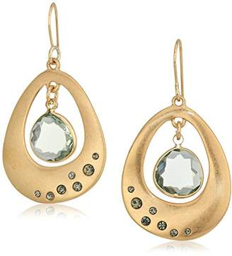 Kenneth Cole New York Scattered Pave Gold Tone Orbital Drop Earrings