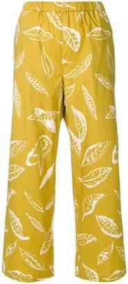 Aspesi leaf print trousers
