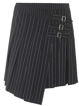 McQ Asymmetric wool-blend skirt