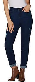 Martha Stewart Petite Distressed GirlfriendJeans