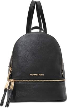 MICHAEL Michael Kors Rhea Zip Medium Backpack in Black Soft Venus
