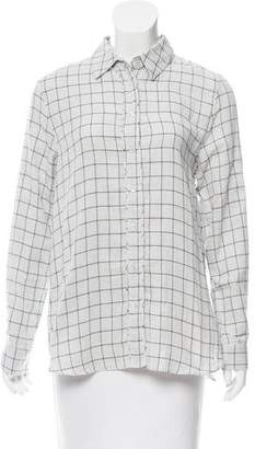 Jenni Kayne Gingham Button-Up Top w/ Tags