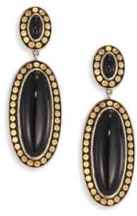 John Hardy Dot Black Onyx & 18K Bonded Yellow Gold Oval Drop Earrings