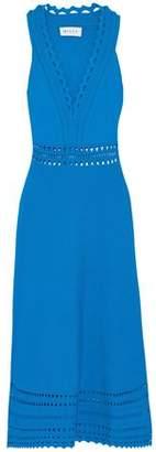 Milly Laser-Cut Stretch-Knit Dress