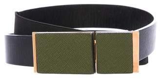 Marni Leather Elasticized Waist Belt