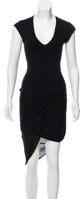 Helmut Lang Jersey Asymmetrical Dress