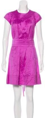 Calypso Silk Short Sleeve Mini Dress