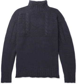 Polo Ralph Lauren Textured-Knit Cotton Mock-Neck Sweater