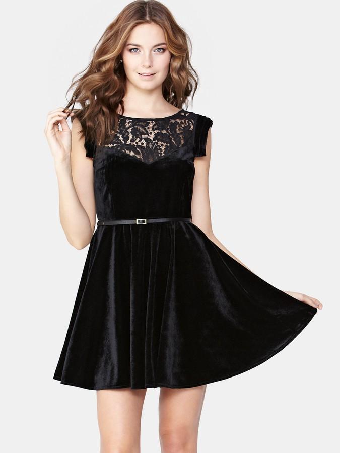 Oasis Velvet Skater Dress