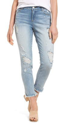 2237e4526fc SLINK Jeans Frayed Hem Easy Fit Ankle Jeans